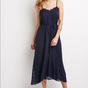 Forever 21 Contemporary Crochet-Trimmed Slip Dress